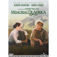 MEMORIAS DE AFRICA, Dirigida por Sydney Pollack, Interpretes: Meryl Streep , Graham Crowden. 1985 - 7 Oscars: Mejor película, director, guión, fotografía, dir. artística, bso, sonido. Para su sorpresa, Karen se da cuenta de que poco a poco se está