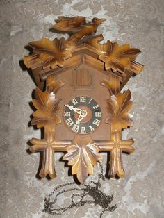 Vintage German Cuckoo Clock Parts Or Repair