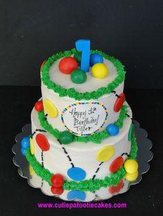 bouncy ball birthday cake - Google Search Ball Theme Birthday, Bouncy Ball Birthday, Ball Birthday Parties, First Birthday Cakes, Birthday Bash, Birthday Ideas, Bubble Party, Party Cakes, Cupcake Cakes