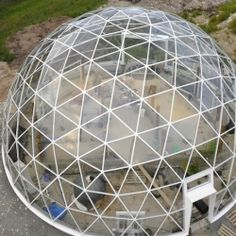 A sustainable geodesic dome boasts solar powered panels and great ventilation in Norway.