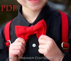 Boys Suspenders Pattern, Easter Pattern, Easy Supsender Sewing Tutorial - DIY Pattern & PDF Instructions, Adjustable Suspenders, 3m-10