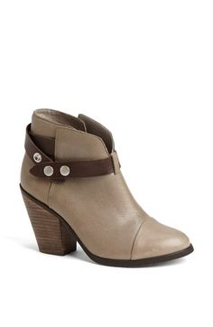Steve Madden 'Raazor' Contrast Strap Ankle Bootie leather grey, black 4sh 3h (74.96) 3/15 NA