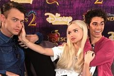 Descendants Cast, Disney Descendants, Cameron Boyce, Grey Adidas Sweatpants, Rotten To The Core, Thomas Doherty, Reasons To Live, Now And Forever, Dove Cameron