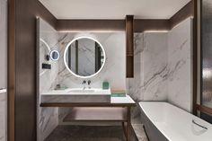 Kempinski Hotel Nanjing(南京凯宾斯基酒店) | YANG & Associates Group | Archinect Kempinski Hotel, Glass Structure, Wall Bookshelves, Bathroom Toilets, Bathrooms, Nanjing, Design Awards, Interior Architecture, Interior Design