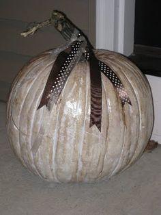 Antiqued pumpkins!