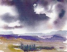 Rain Paintings - Stormy Skies by Anne Duke