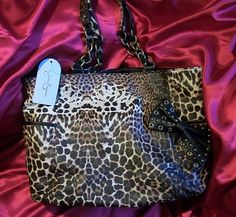 Jessica Simpson Leopard Cheetah Totally Famous Handbag $66.49 MOTHER'S DAY SALE!