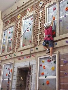 cool climbing wall. Also good bldg for firehouse. I like the lighter colored brick.