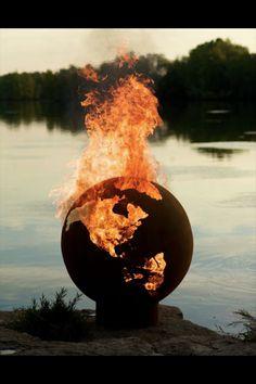 Earth fire globe