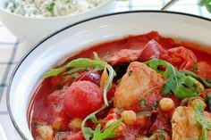 Tomatgryte med skinkebiff
