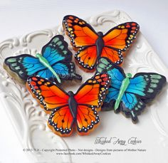 Gorgeous butterflies by Whisked Away Cookies