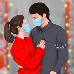 Love Cartoon Couple, Cartoon Girl Images, Cartoon Love Photo, Cute Couple Drawings, Cute Couple Art, Image Couple, Photo Couple, Cute Muslim Couples, Cute Anime Couples