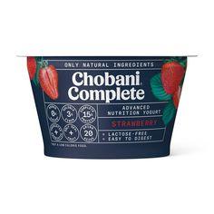 Low Sugar Yogurt, Chobani Greek Yogurt, Vanilla Greek Yogurt, Plain Greek Yogurt, Low Sugar Snacks, Natural Sugar, Lactose Free, Low Calorie Recipes, Strawberry