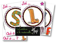 """LaCatalane à la maternelle...: JEU : """"J'ai ... Qui a ... ?"""" : alphas voyelles, et alphas consonnes longues"""
