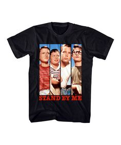 Loving this Black Stand by Me Cast Panels Tee - Men's Regular on #zulily…