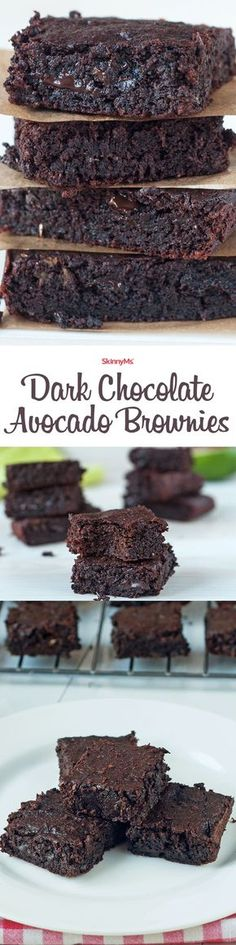 Chocolate and Avocado lovers, rejoice! You're going to  love this healthy, clean take on brownies! Make a double batch! #cleaneating #brownies
