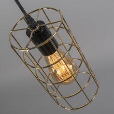 Lámpara colgante FRAME C oro #iluminacion #decoracion #interiorismo