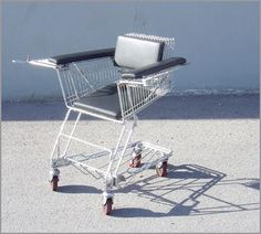 shopping cart chair--what practical use could this have?
