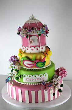 Cake cage birds - Cake by Viorica Dinu