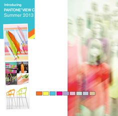 Co-mingled Pantone 2013 sneak peek and Co-llective palette colors by Pantone - images from Pantone ads
