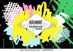 Grunge border. Hip hop music graphic design. Tropic background. Urban wallpaper. Abstract background for brochure, flyer. Creative concept. Cocktail bar plate. Vector illustration EPS10.