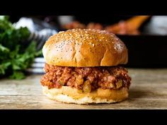 The Best Sloppy Joes are homemade and delicious enough for adults and kids alike! The whole family will love this delicious easy dinner. Hamburger Dishes, Hamburger Recipes, Beef Dishes, Ground Beef Recipes, Meat Recipes, Cooking Recipes, Hamburger Buns, Venison Recipes, Barbecue Recipes