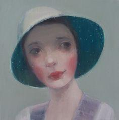 På dagen by Kristin Vestgard, 30-30 cm, 2014, oil on canvas