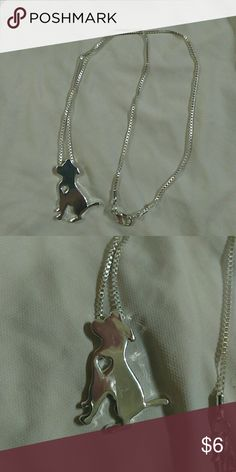 """Pitbull or Lab heart cut out necklace 18"""" chain New never worn I love this necklace and the dog charm but don't wear much jewelry Jewelry Necklaces"""