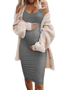 Casual Maternity Outfits, Maternity Dresses Summer, Stylish Maternity, Pregnancy Outfits, Mom Outfits, Maternity Wear, Maternity Tops, Winter Maternity Clothes, Winter Maternity Style