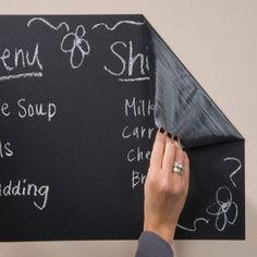 Chalk Board Blackboard Removable Vinyl Wall Sticker Decal Chalkboard $7.99 | www.houseables.com | #chalkboard #livingroom