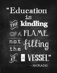 Education can be a way to understand who you are and to gain information from the world.