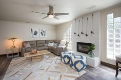 Transitional Living Room color palette of beige and gray with metallic accents.