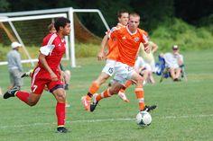 Team America 96 (2014 Kirkwood College Showcase, U19 Gold) vs Hersey 96 Orange Pride (August 2, 2014) -- Kyle Petitt #7 (TAFC96 Soccer)