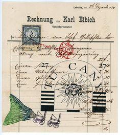 Original Faux Mail par Nick Bantock, auteur à succès de « Griffin et Sabine ».