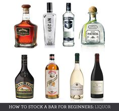 How to Build a Bar for Beginners:  Liquor