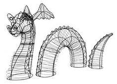 topiary frame - dragon