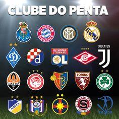 Os 19 pentacampeões nacionais 💙  👉 Lista efetuada com base nos 20 primeiros campeonatos do ranking da UEFA   #FCPorto #nascidosparavencer #PentaFCPorto