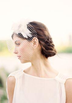 Lila Birdcage Veil | Hushed Commotion