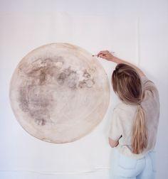 painting the moon again | stella maria baer