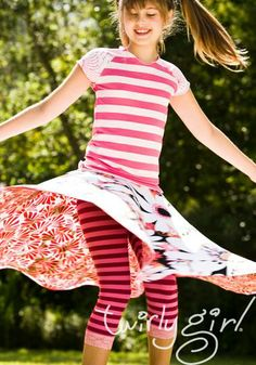 Reversible skirts for girls, from TwirlyGirl.  Put a smile on her face!  Click to see more.  #reversible-skirts-for-girls
