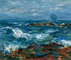 Le Bass Rock de William Mactaggart (1903-1981, United Kingdom)