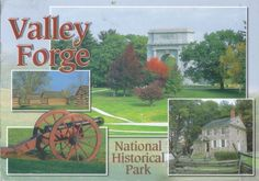 Valley Forge was the site of the 1777-78 winter encampment of the Continental Army. The park commemorates the sacrifices and perseverance of the Revolutionary War generation and honors the ability of citizens to pull together and overcome adversity during extraordinary times. Postcard USA.
