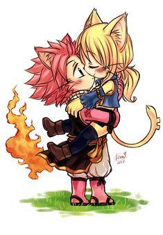 Neko🐱 Natsu ღ Lucy 💕Fairy Tail ~ Fairy Tail Love, Fairy Tail Nalu, Image Fairy Tail, Fairy Tail Family, Fairy Tail Natsu And Lucy, Fairy Tale Anime, Fairy Tail Couples, Fairy Tail Ships, Fairy Tales