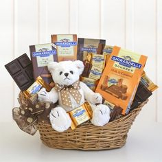 Caramel Hugs of Chocolate --> See more Chocolate Gift Baskets at:   http://bestgiftbasketswithstyle.com/send-best-chocolate-gift-baskets-online-delivered.html
