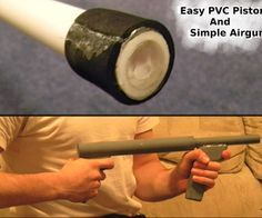 Easy PVC Pistons + Simple Airgun - combine with foam darts for a safe diy toy (there's lots of lethal air guns out there for some reason, what the heck?!)