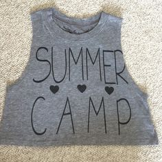 New cute camping outfits summer swimwear 53 Ideas Crop Tops For Kids, Cute Crop Tops, Shirts For Teens, Kids Shirts, Camp Shirts, Summer Camping Outfits, Summer Outfits, Cute Outfits, Tween Fashion