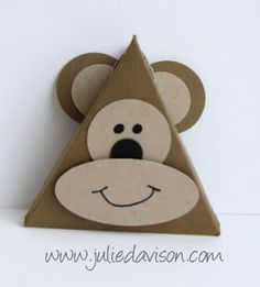 Julie's Stamping Spot -- Stampin' Up! Project Ideas Posted Daily: Punch Art Triangle Box Critters, Part 2
