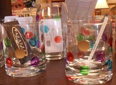 Polka Dot glassware-small tumbler $23