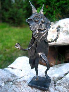 Čertík Bertík / KatarinaKondacova - SAShE.sk - Handmade Socha Garden Sculpture, Lion Sculpture, Sculptures, Statue, Outdoor Decor, Handmade, Home Decor, Art, Art Background