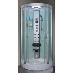 The AquaLusso Davenport 900 Steam and Shower Cabin will give your body the luxury it deserves. Features an overhead monsoon rain shower and 6 massage body jets. Dream Home Design, House Design, Massage Body, Monsoon Rain, Shower Cabin, Big Bathrooms, Saunas, Steam Showers, Rain Shower